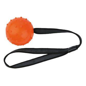 Trixie boll med nylonband Orange